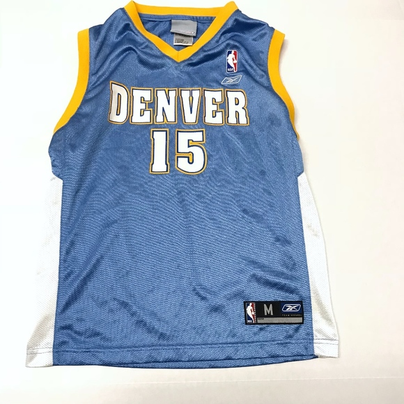 hot sale online 84cdf 5700b Vtg Reebok Denver Nuggets Carmelo Anthony Jersey